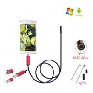 Quality EchoFlove Endoscope HD USB Android Endoscopio Camera 2IN1 Android Borescope USB Endoskop Inspection Cam Tube Pipe Camera for sale