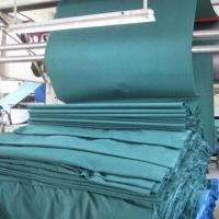 China Canvas Flame-Retardant Fabric, Available in Green on sale