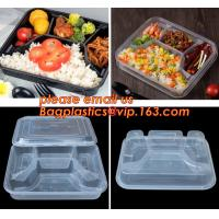Quality Supermarket display wholesale storage fruit food defrosting plastic tray,manufacturer supply bpa free reusable 3 compart for sale