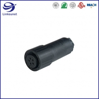 Quality CA CM IP67 CA3LD Black Circular DIN Connectors For Electronic Wire Harness for sale