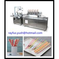 Quality Single Straw Packaging Machine For Paper Plastic High Efficiency Auto Counting for sale