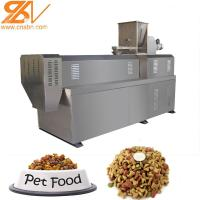 Quality Dry Kibble Dog Food Extruder Machinery Plant 100kg/H - 6kg/H Big Range Puffing Snack for sale