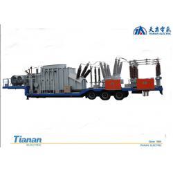 China 132kv Prefabricated Mobile Vehicle Mounted semi-trailer Transformer Substation for sale