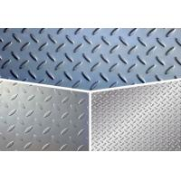 Quality ASTM Steel Checker Plate Sheet , Gr65 Tear Drop Patten Galvanized Checker Plate for sale