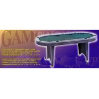 China 84 Inches Oval Poker Table , Indoor  Modern Poker Table With Folding Legs on sale
