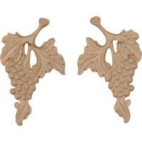 China Qualified wood appliques, Solid wood carving rosette, furniture decorative onlay with CNC on sale