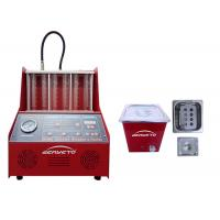 Quality Petrol Fuel Injector Cleaning Machine Red Color 60*60*42cm 230W FCC Approved for sale