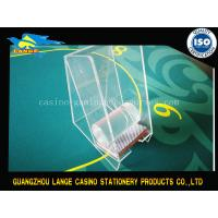 Quality Transparent Casino Accessories Playing Card Holder / Acrylic Card Box for sale
