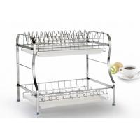 Quality Chrome Plated Metal Kitchen Baskets , Convenient Tiered Kitchen Basket for sale