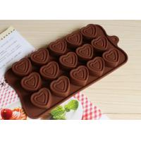 Quality Heart Shaped Silicone Molds For Chocolate Cake 15 Cavities 21.3*10.5cm for sale