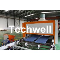 Quality 0.4mm Al-Zn Plating Panel Steel Stone Coated Roof Tile Machine for sale