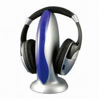 Quality FM Wireless Headphones with 82 to 108MHz Receive Frequency for sale