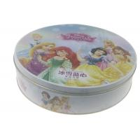 Quality Large Round Tin Box Disney FAMA Approved For Snowy Mooncake Packaging for sale