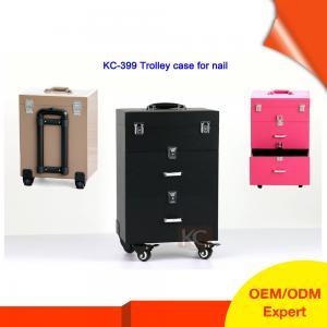 Quality RG Nail Polish Holder Box PVC Cosmetic Vanity Case for sale
