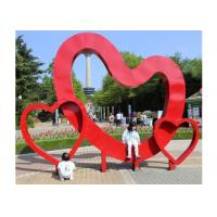 Quality Contemporary Garden Art Outdoor Stainless Steel Heart Sculpture for sale