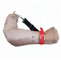 Arm Safe Cut Resistant Arm Sleeves 304L Stainless Steel Metal Mesh Wire Mesh Sleeve 5 Level Protection For Butcher Work