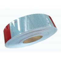 China Outside Red Silver Utility Trailer Reflective Tape Placement Hi Vis 2inch * 25m on sale
