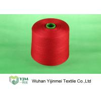 Quality AAA Grade 100% Polyester Spun Dyeing / Twisted Yarn Thread Good Evenness for sale
