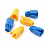 China RoHS PUR Cat7 Cable Boots Cat6A Shielded Boots OD 7-8.5MM Colorful Sheath Shielded Boots on sale