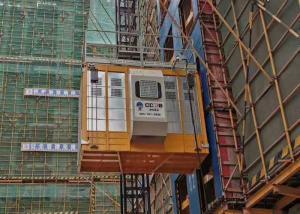 Quality Rack Pinion VFD Single Cage Construction Passenger Hoist 1000kg High Speed for sale