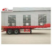 Quality 2 Axles 30ft 30Ton Flatbed Semi Trailer Leaf Spring Suspension 12R22.5 Tire for sale