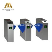 Quality Good Quality 304 Stainless Steel Barrier Turnstile Access Control System Auto Bridge Flap Turnstile Optional Fingerprint for sale