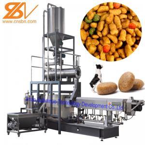 Quality 100kg/H-6t/H Dry Kibble Dog Food Manufacturing Machine Extruder Production Line for sale
