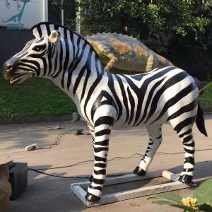 China Garden decoration animatronic animal life size zebra for sale on sale
