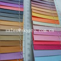 Buy Smooth PU Synthetic Leather / PVC Synthetic Leather Material For Making Bags at wholesale prices