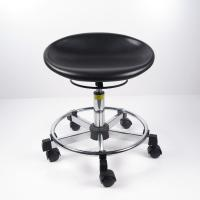 Quality Black Polyurethane Ergonomic Laboratory Stools , Durable Rotatable Office Chair for sale