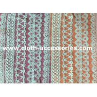Quality Customized 100 Cotton Mesh Net Lace Fabric Eco - Friendly Dyeing For Lady Dress for sale