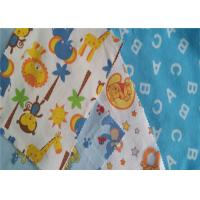 China Twill Lightweight Flannel Fabric Baby Bedding Fabric Printed Cotton Flannel on sale