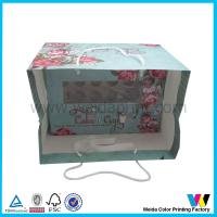 China 24 Cup Cardboard Cupcake Boxes Food Packaging Boxes With Clear PVC Window Plus Ribbion on sale