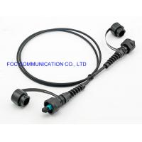 Quality ODVA MPO To ODVA MPO OM3 Optical Fiber Patch Cord FTTA Outdoor IP67 Waterproof for sale