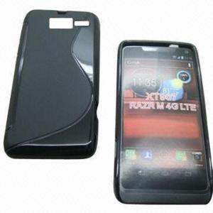 Quality Cellphone Cases for Motorola XT907 Droid Razr M, S Shape Design, OEM/ODM Services Provided for sale