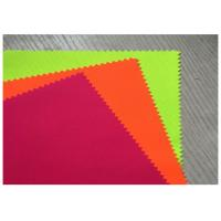 Quality Thin Fluorescent Orange Fabric Cotton Woven Twill 32X21 For Suit Clothing for sale