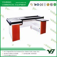 China Durable Electric Supermarket Checkout Counter Cashier Desk 2000 * 1200 * 850mm wholesale