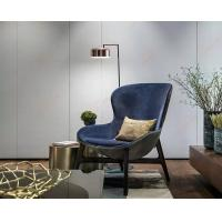 China Discover Hotel Comfortable Wooden Lounge Chair For Living Room Blue Color on sale