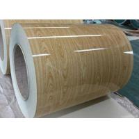 Quality Wooden Pre Painted Galvanized Sheet , Hot Rolled Steel Coil For Construction for sale