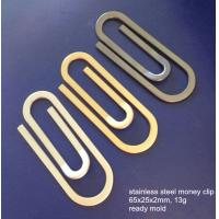 Quality Paper clip shape stainless steel money clips, cheap S.S. money clip, ready mold, for sale