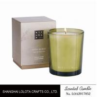Buy Handmade Scented Soy Candles , Long Lasting Scented Candles In Green Clear Bottle at wholesale prices