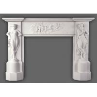 Quality New Design Natural Stone Yellow Fireplace Mantel for sale