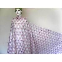 China Light Pink Double Organza Lace Fabric , Embroidered Lace on sale