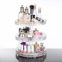 Buy cheap Diamond surface cutting process transparent acrylic cosmetic storage box desktop from wholesalers