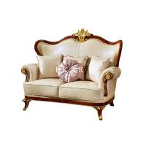 China Elegant Living Room Furniture Classic Leather Luxury Sofa Set on sale