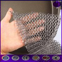 Quality Finger Cast Iron Stainless steel Scrubber Chain mail Cleaner Kitchen made in china for sale