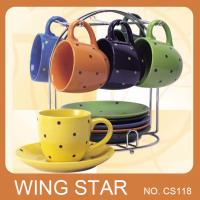 China ceramic cup and saucer on sale