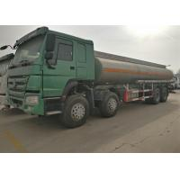 Quality Four Axles Fuel Tanker Truck SINOTRUK HOWO 30 - 40 Tons For Oil Transportation for sale