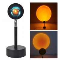 Quality 6W Rgb Remote LED Sunset Lamp LED Bedside Lamp 150cm Wire for sale
