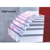 China Indoor / Outdoor Clear Acrylic Sheet 80% - 90% Light Transparency For Engraving Letters on sale